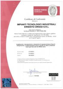 certificazione Fgas 2013-18-1